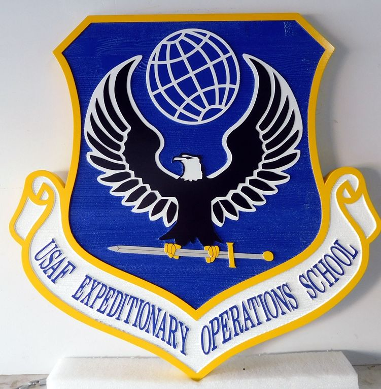 V31643 - Carved Wall Plaque for USAF Expeditionary Operations School