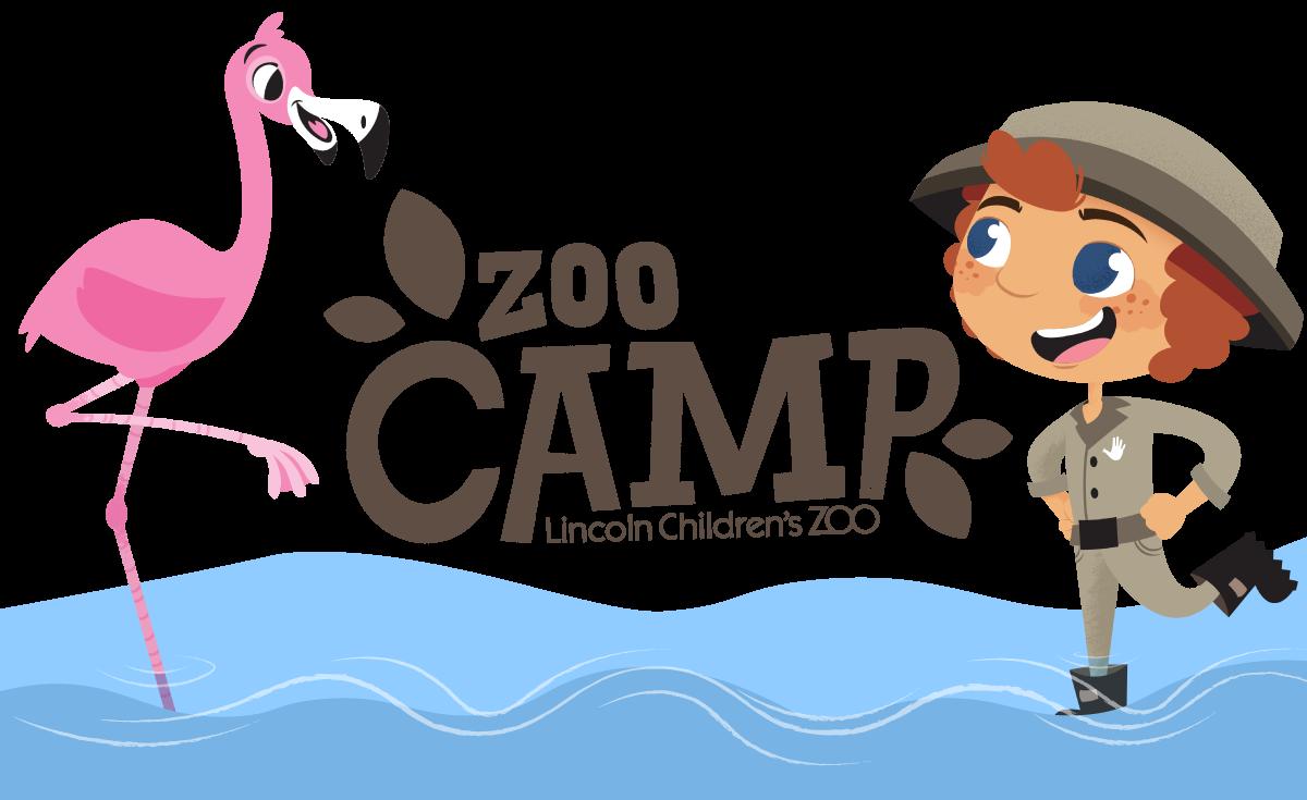 Zoo camp kid standing in a safari area