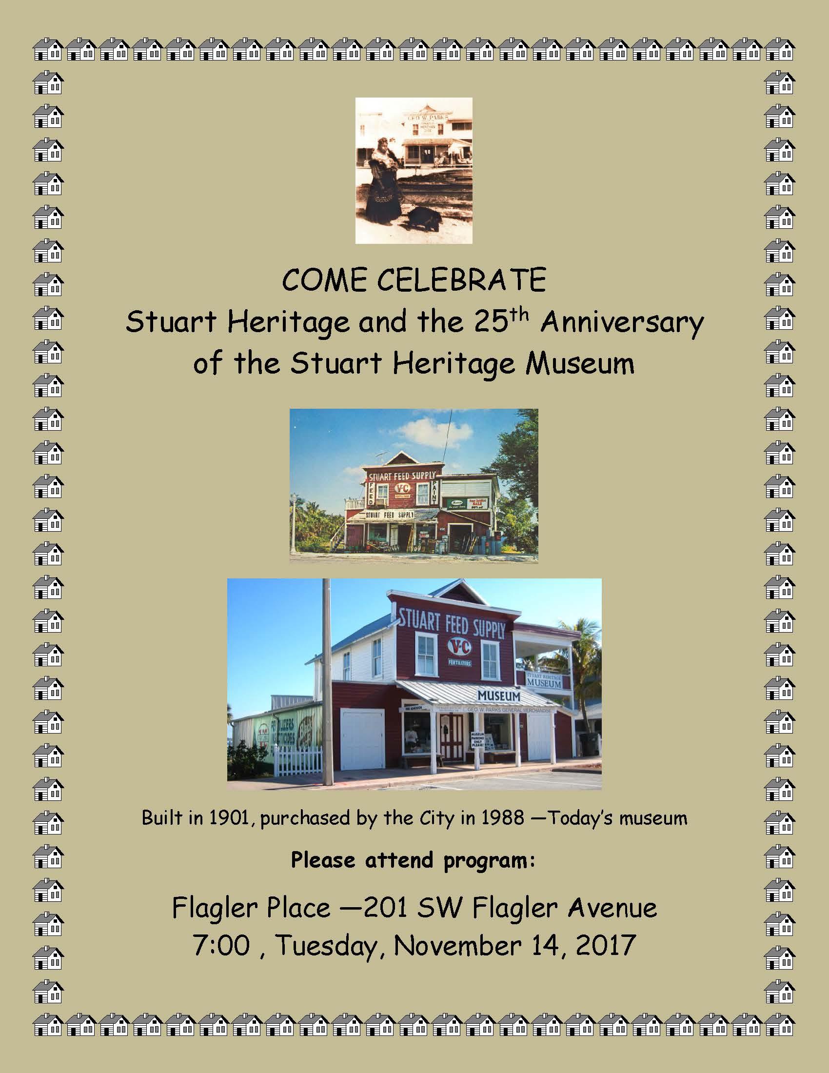 25th Anniversary of the Stuart Heritage Museum