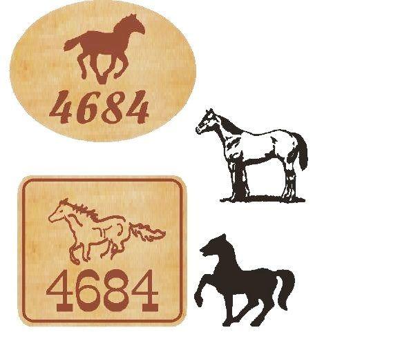 P25344- Cedar Address Signs