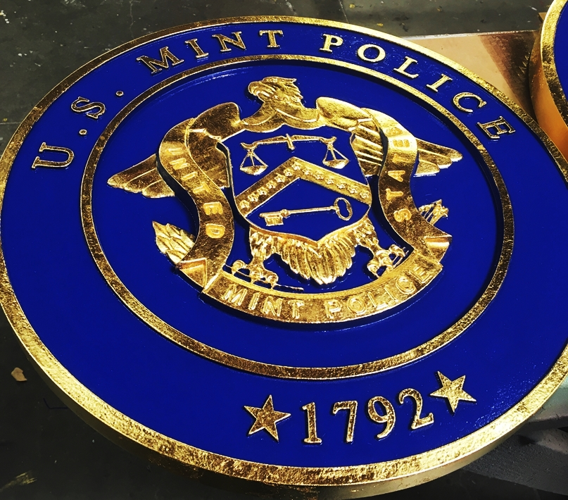 ME5030 -  Seal of the US Mint Police, 3-D