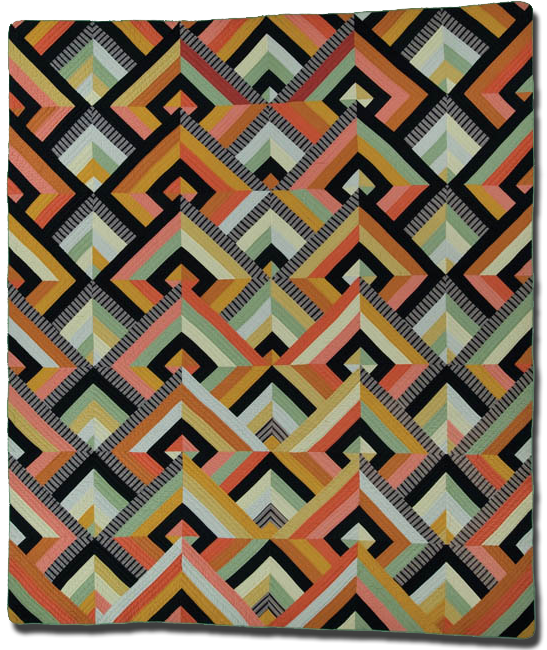 'Art Deco,' Made by Francoise Barnes, Made in Ohio, United States, Circa 1980, 10 x 86 in, IQSC 1997.007.1023