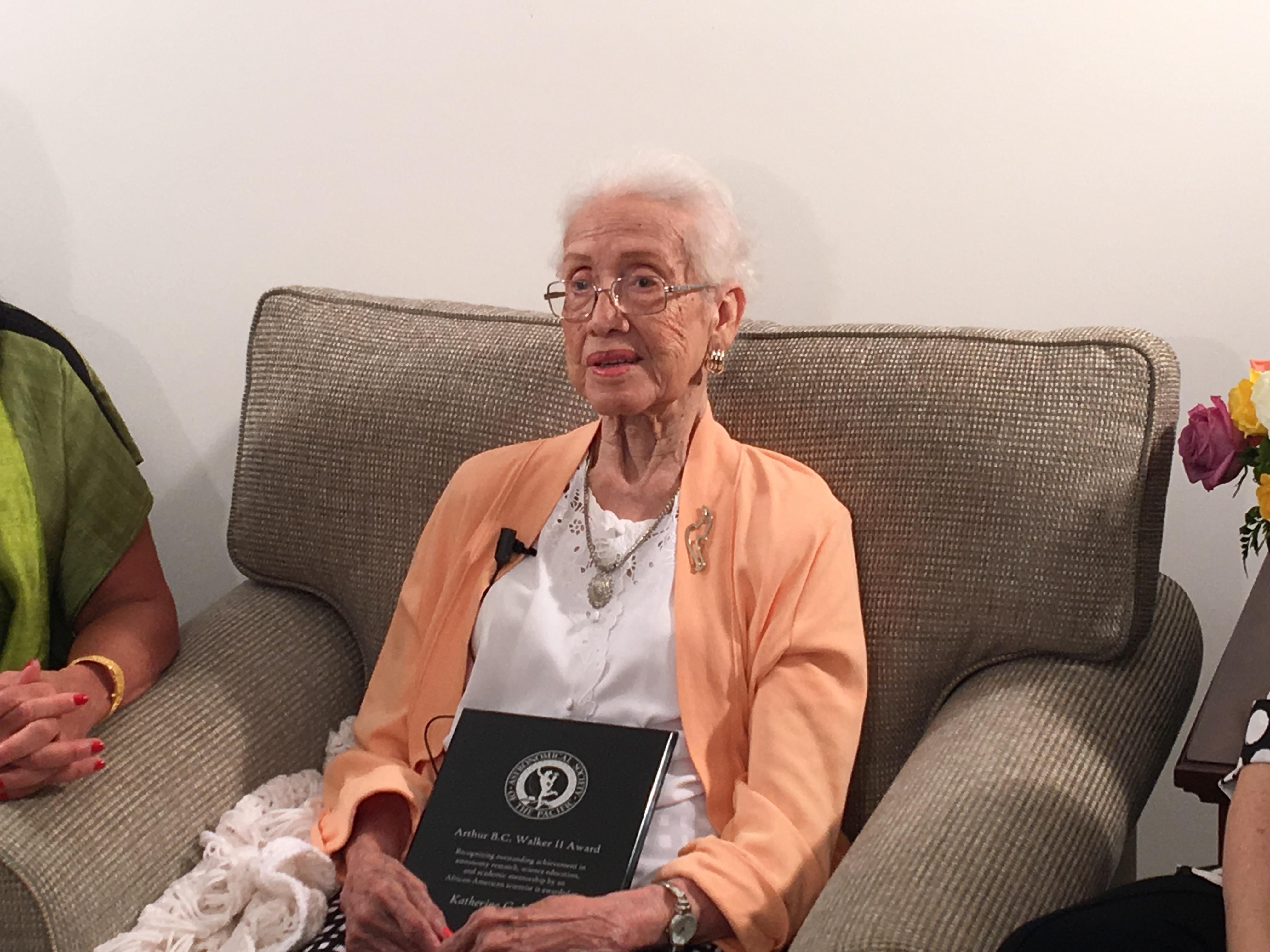 Happy 101st Birthday to Katherine Johnson, ASP's 2016 Walker Award Recipient
