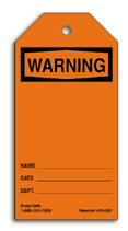 Blank Warning Tag