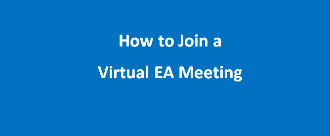 How to Join a Virtual EA Meeting