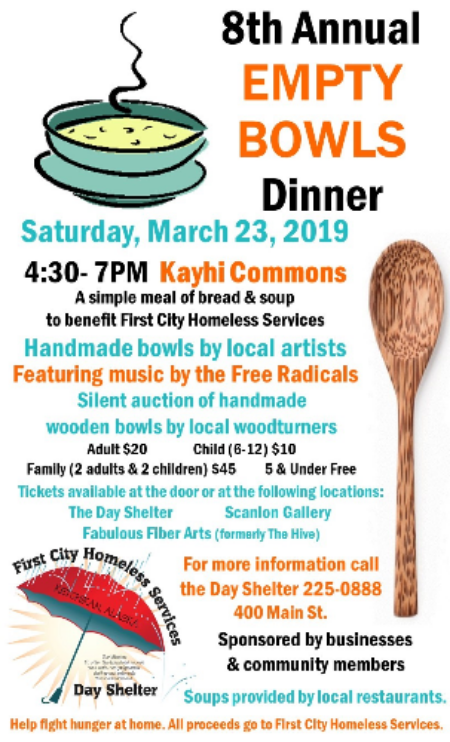 The 8th Annual Empty Bowl's Dinner