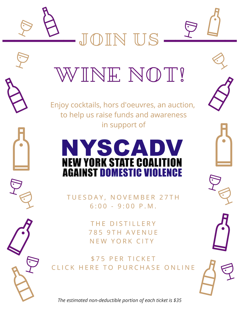Wine Not! In support of NYS Coalition Against Domestic Violence