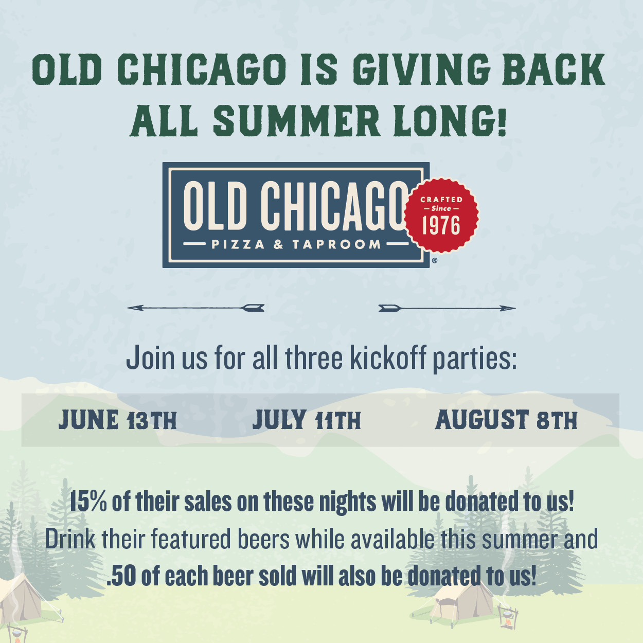 Old Chicago Summer Camp Challenge To Benefit CEDARS
