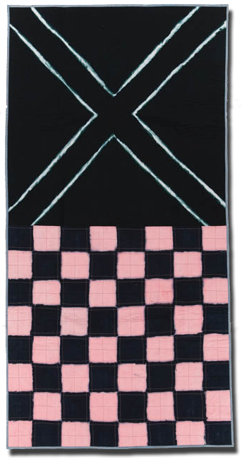 Crossing Flag, Made by Mary Anne Jordan, Made in Lawrence, Kansas, United States, Dated 2006, 84.5 x 42.5 in, IQSC 2006.052.0002