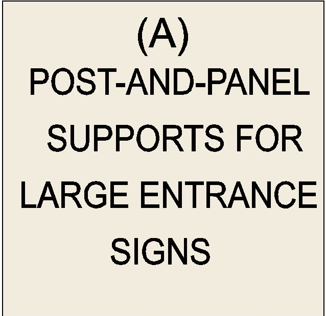 M6101 - Post-and-Panel Signs (click for description)