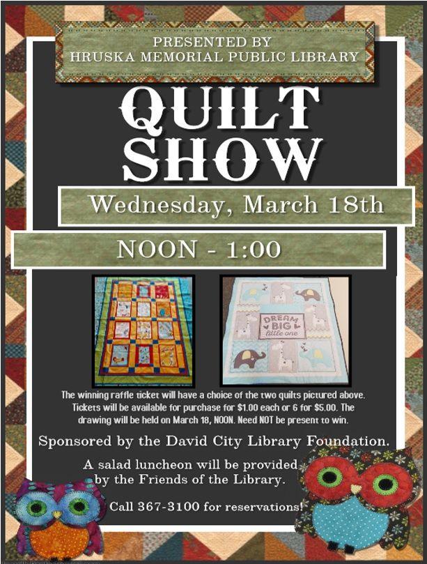 Quilt Show - Hruska Memorial Public Library