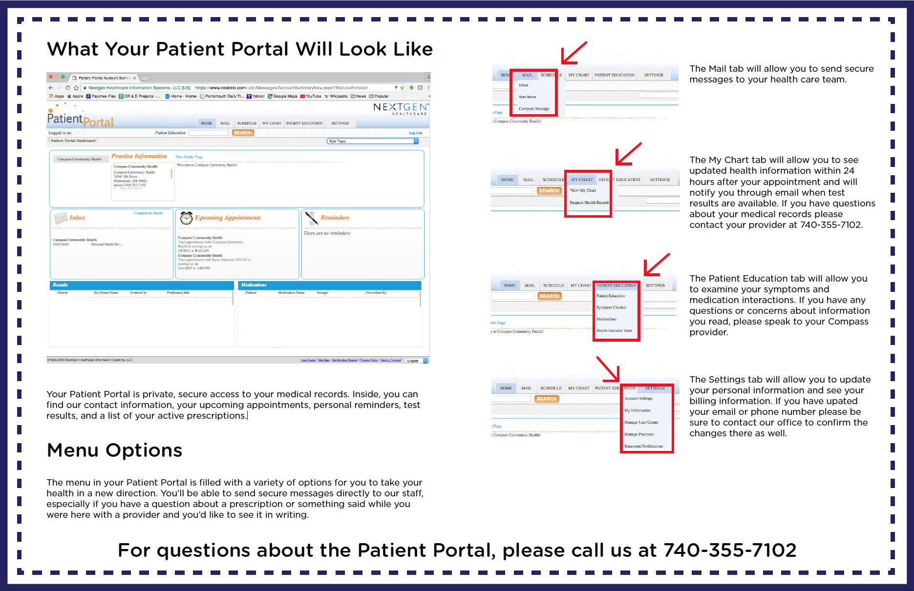 Patient Portal Walkthrough Side 1