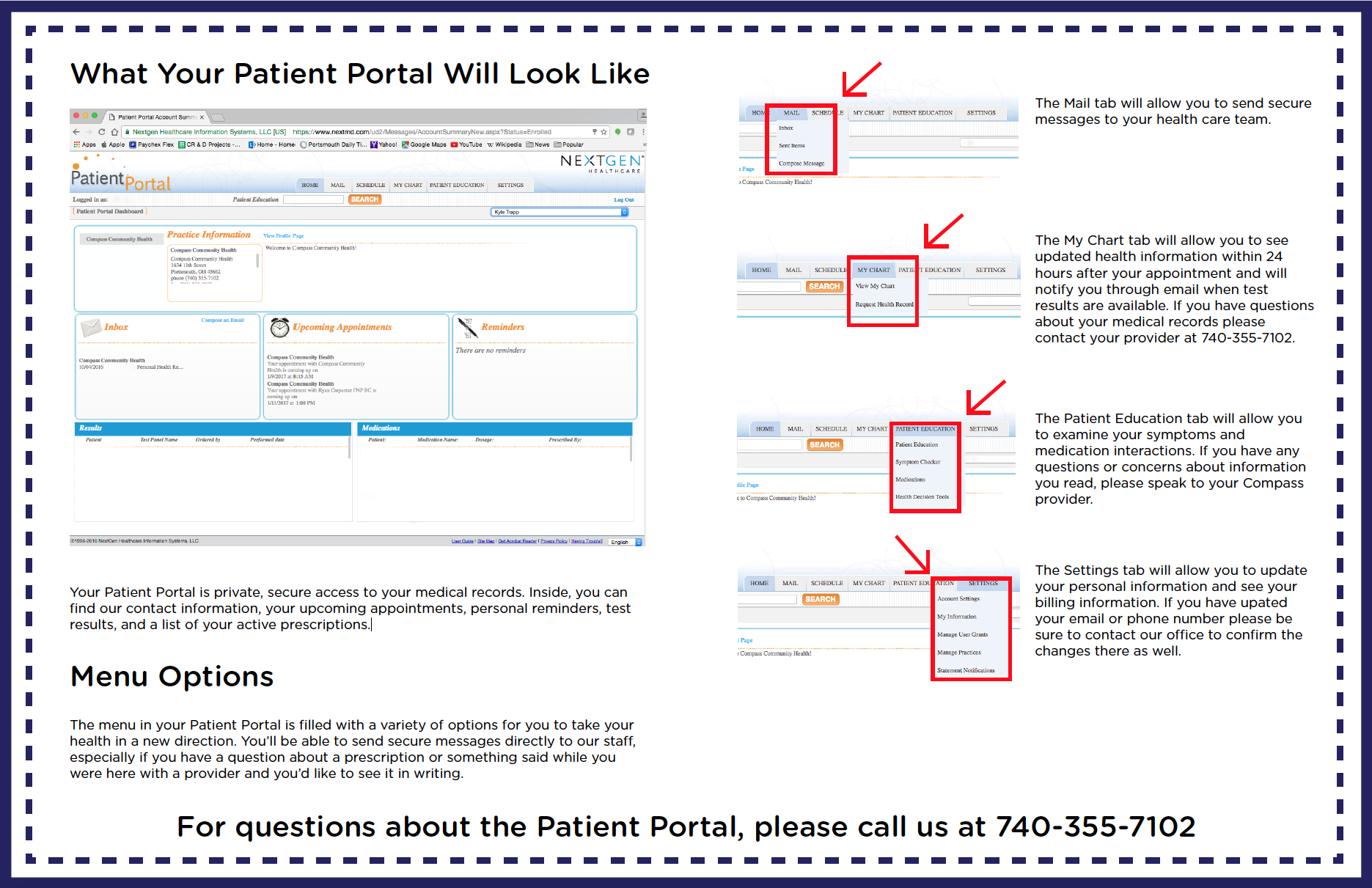 Patient Portal Walkthrough Side 1