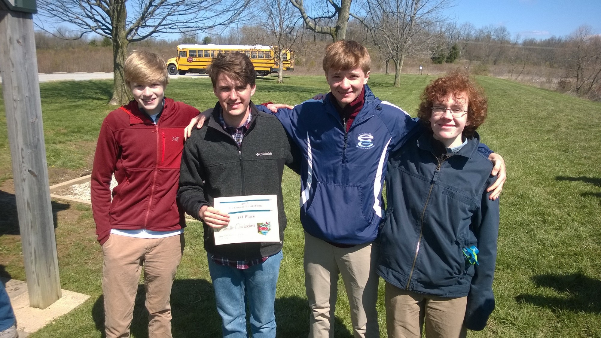 Granville Takes First and Second in Tri-County Envirothon