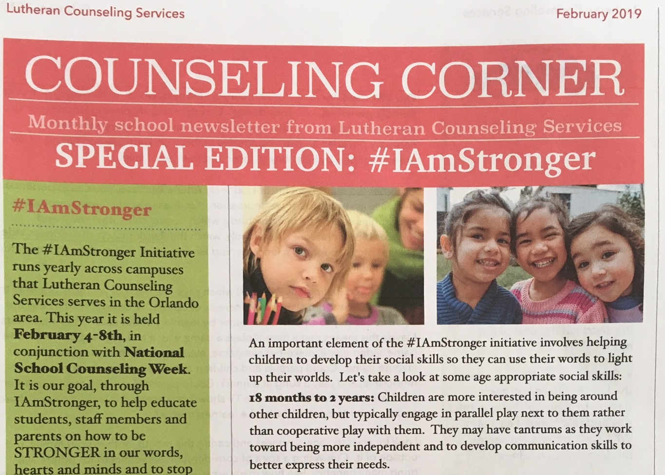 Counseling Corner - #IAMSTRONGER Edition