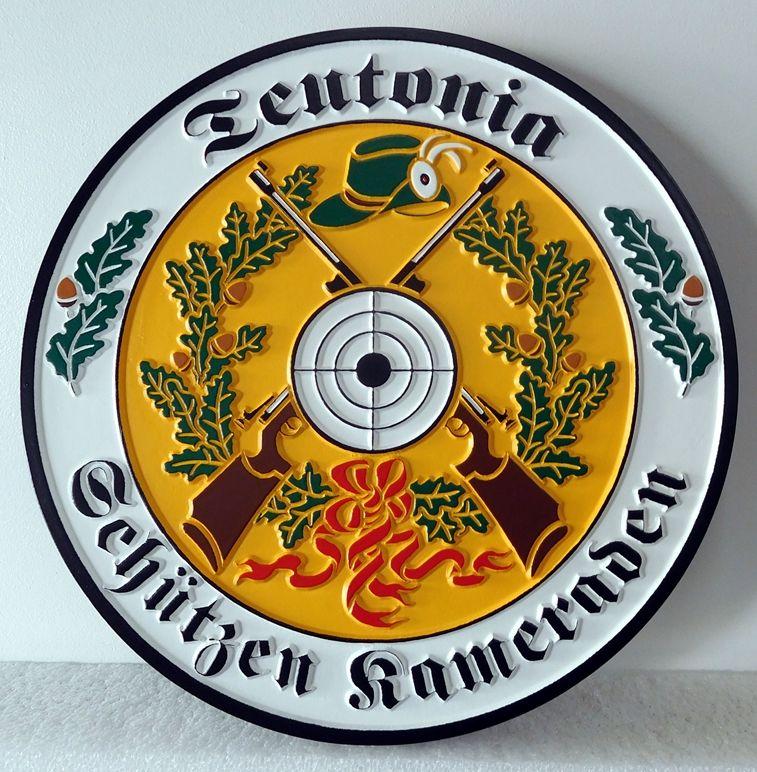 CB5710 - German Wappen / Crest for Family, Multi-level Relief