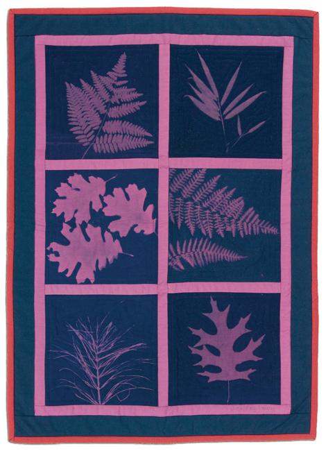 'Magenta Forest,' c. 1990, cyanotype, 21 x 29 in, IQSCM 2010.014.0006