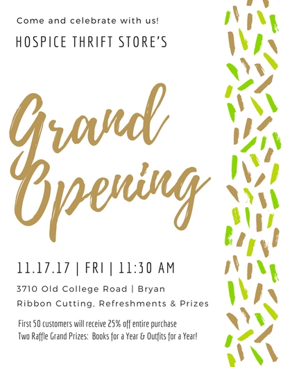 Hospice Thrift Store Grand Opening Celebration