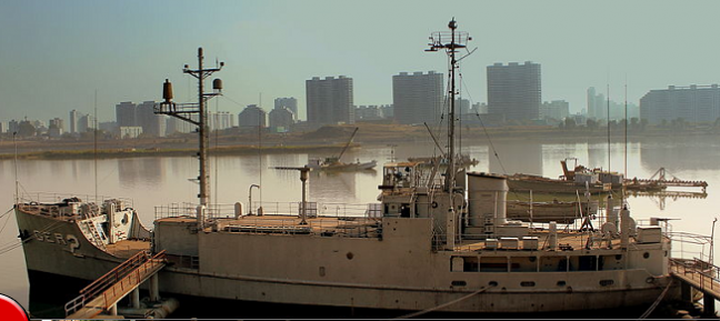 USS Pueblo on Display in North Korea