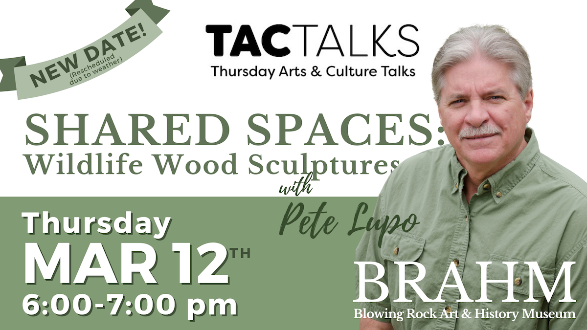 TAC Talk | Shared Spaces: Wildlife Wood Sculptures by Pete Lupo