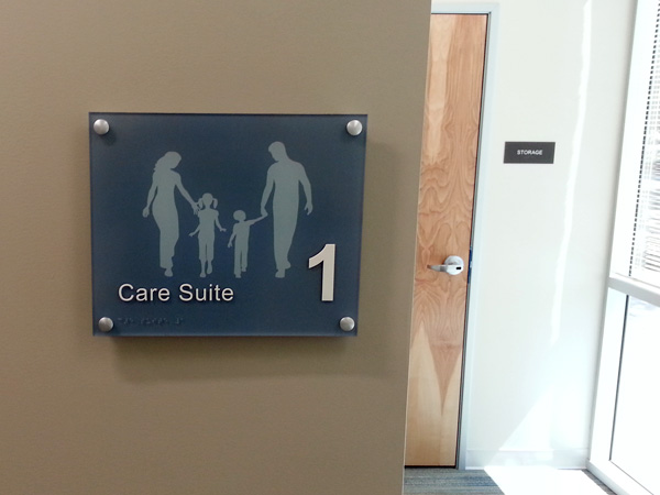 Suite Sign with Braille ADA