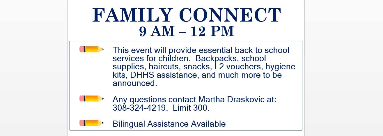 Back 2 School Family Connect Event