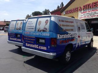 Fleet vehicle wraps Orange County
