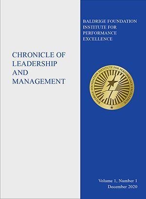 Cover photo of Chronicle of Leadership and Management