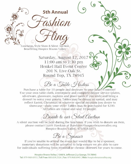 5th Annual Fashion Fling