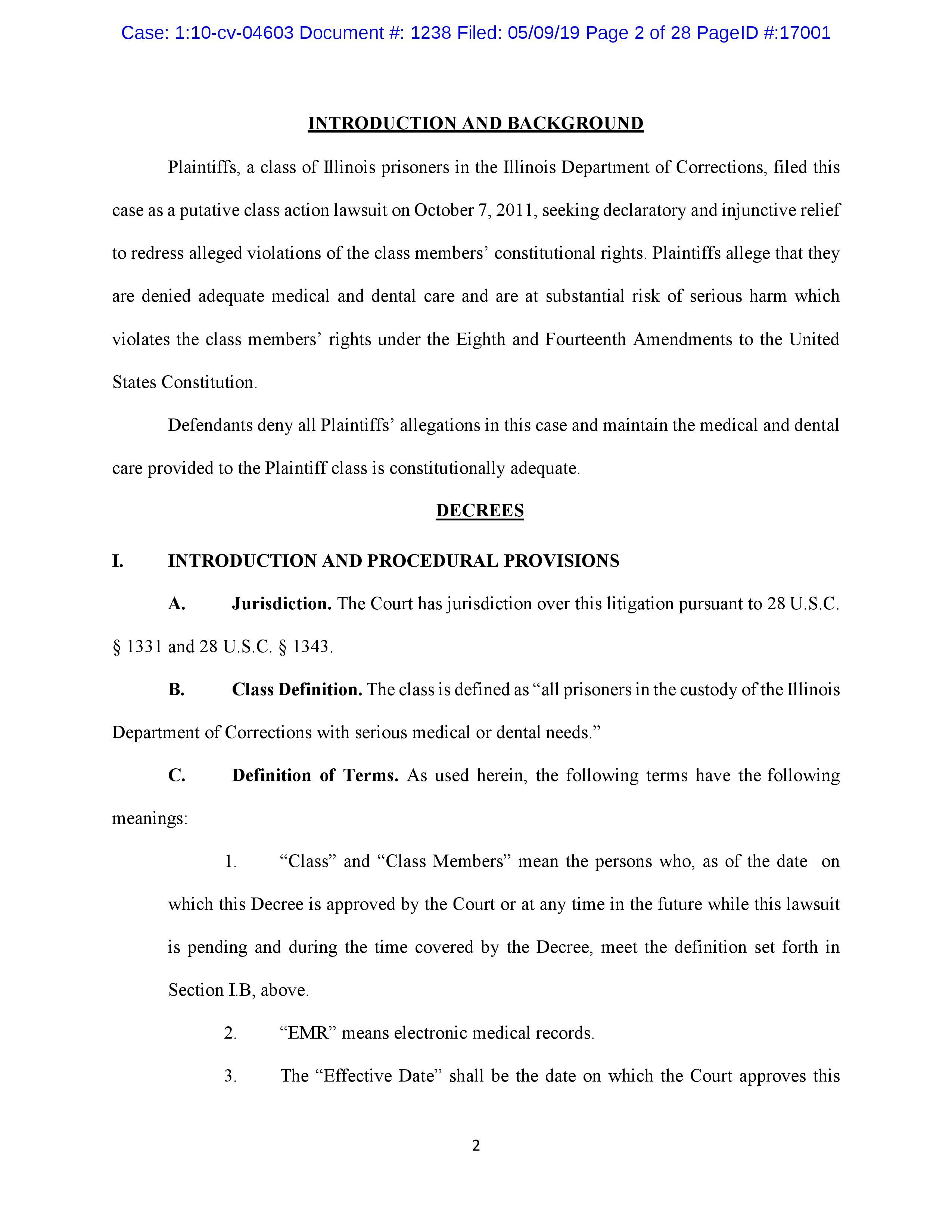 Lippert v. Baldwin: Consent Decree