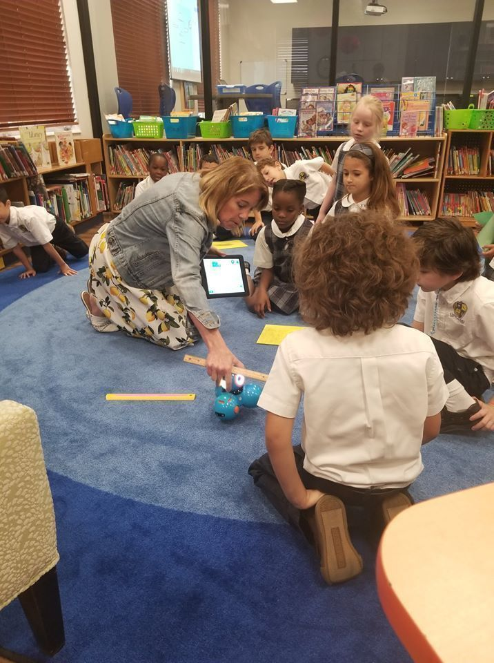 Lisa Gustinelli, the IT administrator and educational technology specialist at St. Vincent Ferrer School in Delray Beach