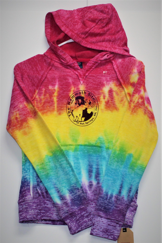 Courtney Rainbow Stripe Pullover Hoodie
