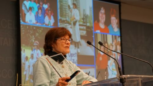 Dottie Klemm receives Founder's Award from Adoption Network Cleveland