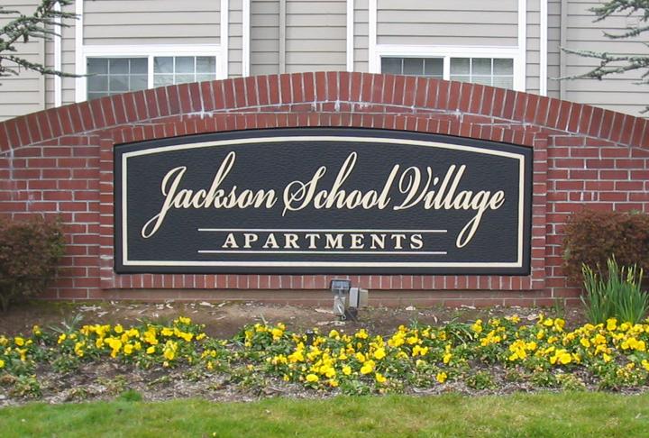 Jackson School Village Monument Sign