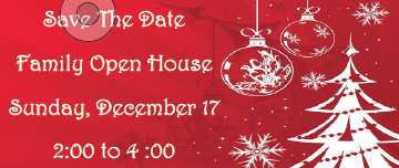 Family Open House - Save the Date
