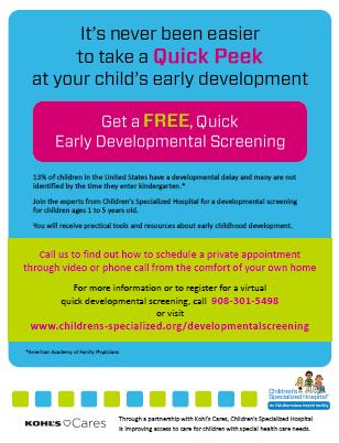 Free Early Developmental Screenings