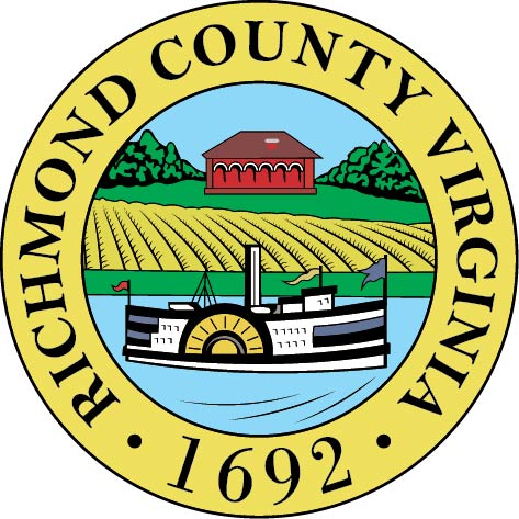X33385 - Carved Wooden Wall Plaque of the Seal of Richmond County, Virginia