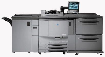 Three Konica Minolta Bizhub Pro digital presses