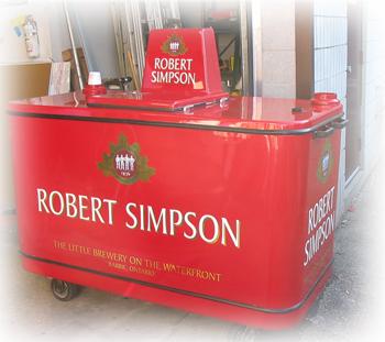 Robert Simpson beer caddy