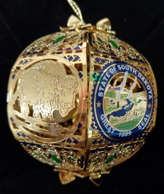 South Dakota Commemorative Ornament