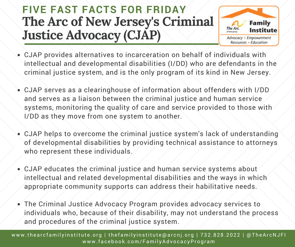 The Arc of New Jersey's Criminal Justice Advocacy (CJAP)