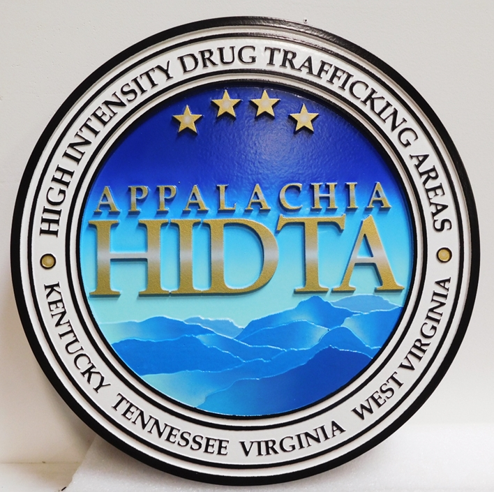 AP-2542 - Carved Plaque of the Seal of the Applalachia  High-Intensity Drug Trafficking Area  (HITDA), DEA