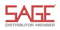 red sage logo above gray distributor member text