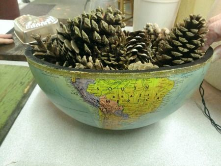 Globe into bowl