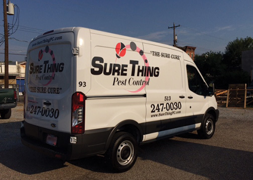 Sure Thing Pest Control Vehicle Graphics 2