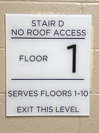 ADA Stairwell Sign