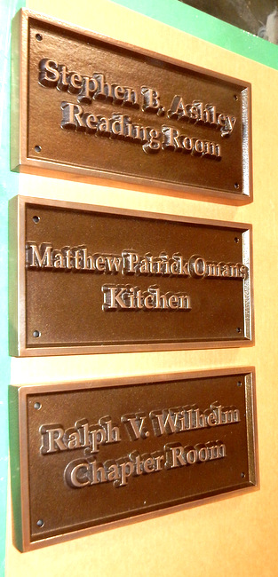 T29440 -  Bronze Room Name Plaques for Historical Inn