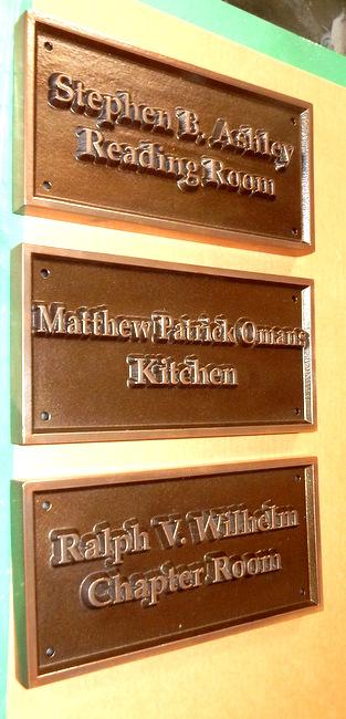 T29440 -  Bronze Room Name Plaques for Historical Inn