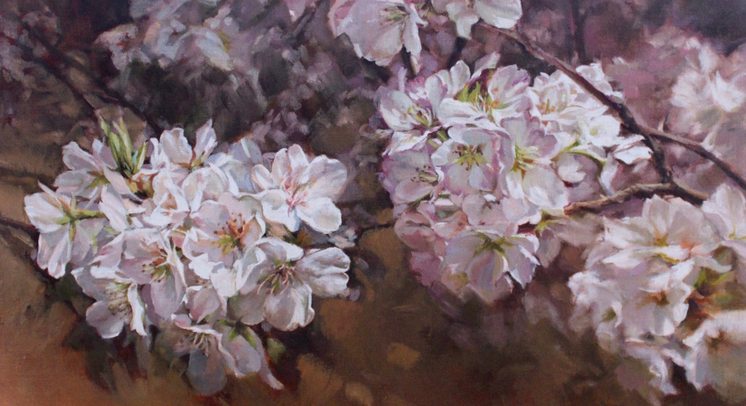 Bloom, floral paintings by Lani Browning, now on view
