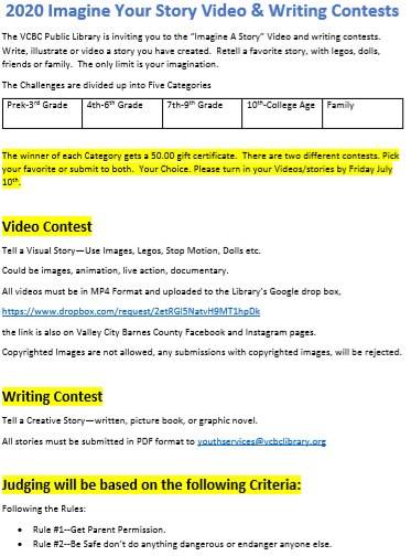 Video & Writing Contest Form